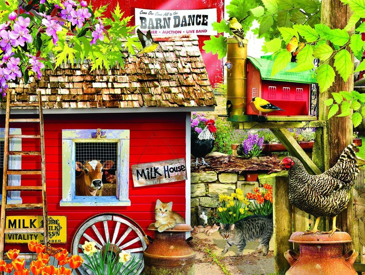 Milk House Crew - 300pc Jigsaw Puzzle By Sunsout  			  					NEW