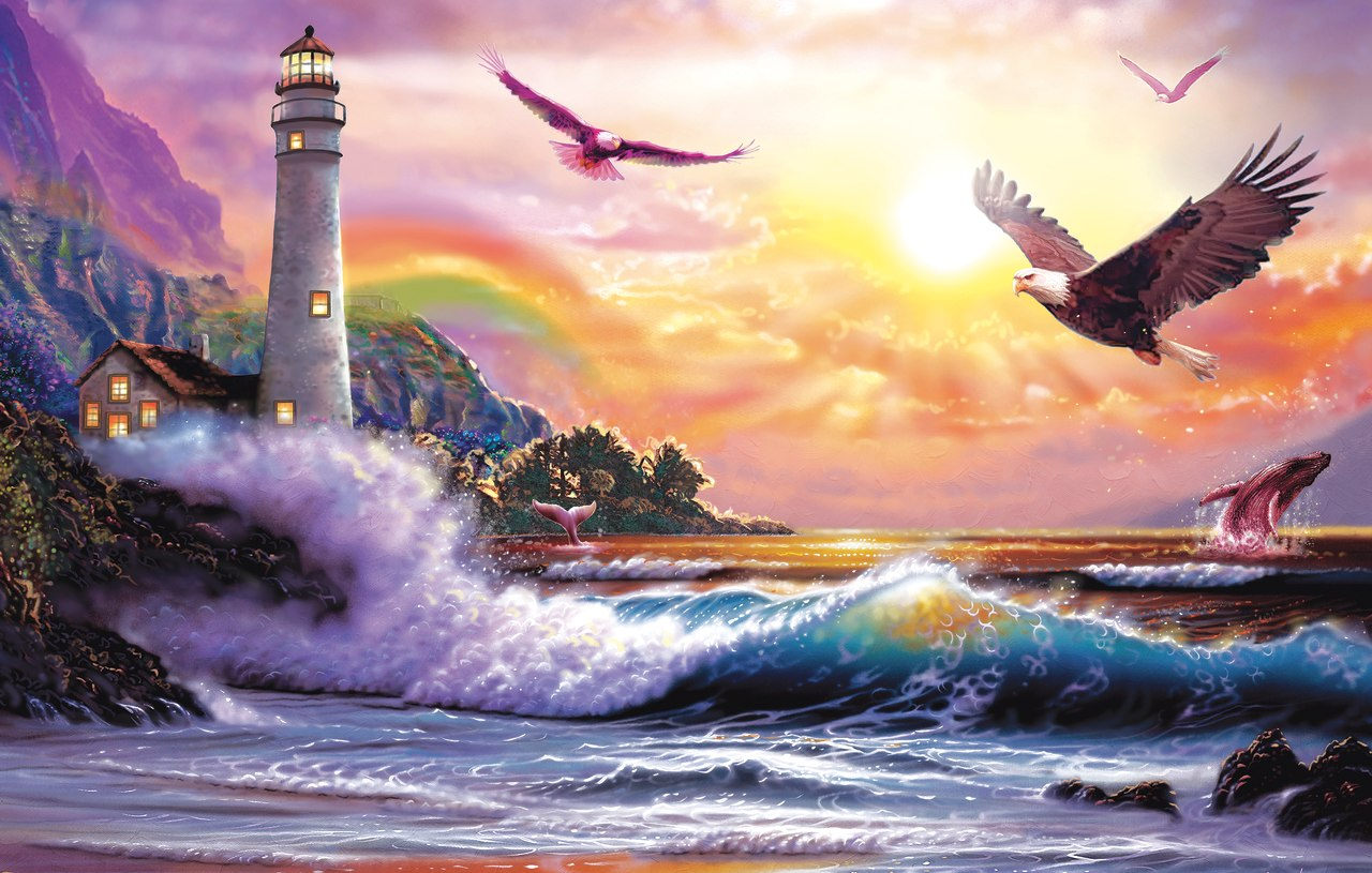 Peaceful Seascape - 30pc Jigsaw Puzzle by Sunsout  			  					NEW