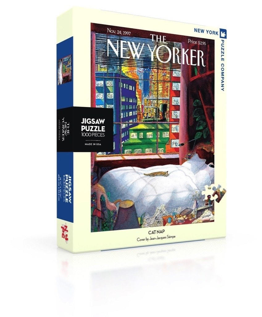 Cat Nap - 1000pc Jigsaw Puzzle by New York Puzzle Company  			  					NEW