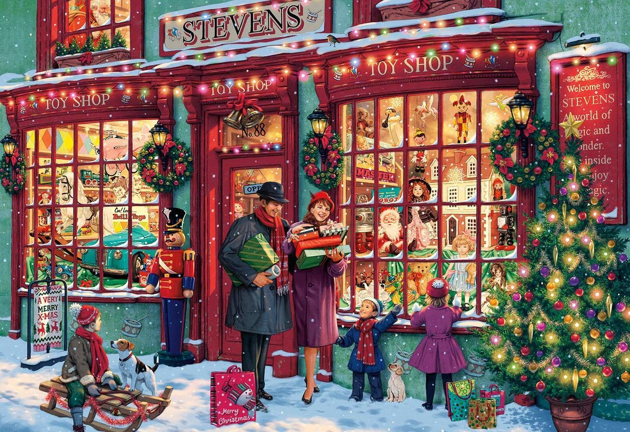 Christmas Toyshop - 2000pc Jigsaw Puzzle by Buffalo Games  			  					NEW