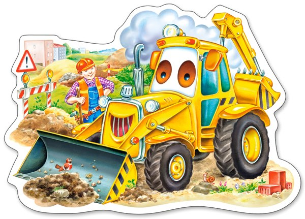 A Smiling Digger - 15pc Jigsaw Puzzle By Castorland  			  					NEW