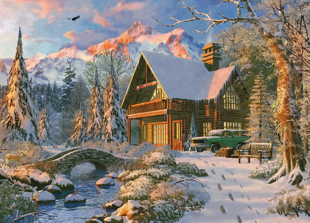 Time Away: Winter Haven - 1000pc Jigsaw Puzzle by Masterpieces