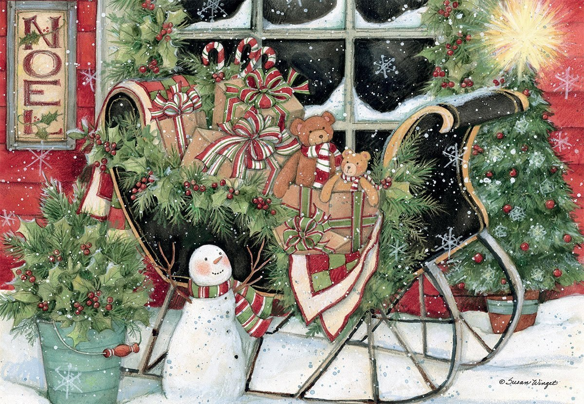 Santa's Sleigh - 1000pc Jigsaw Puzzle by Lang  			  					NEW