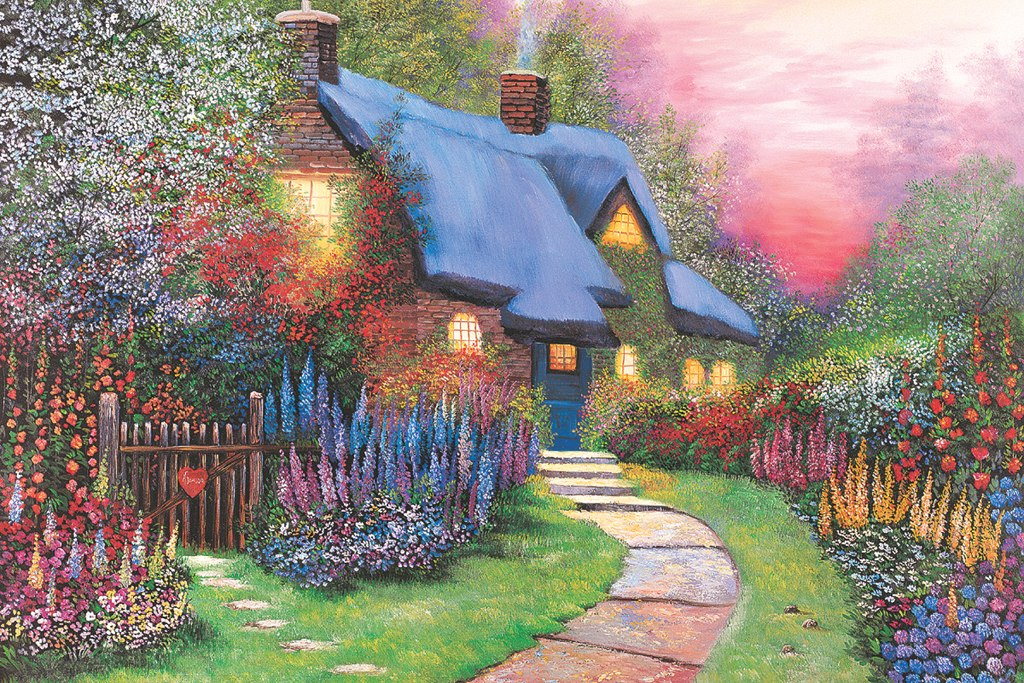 Floral Cottage - 1500pc Jigsaw Puzzle by Tomax