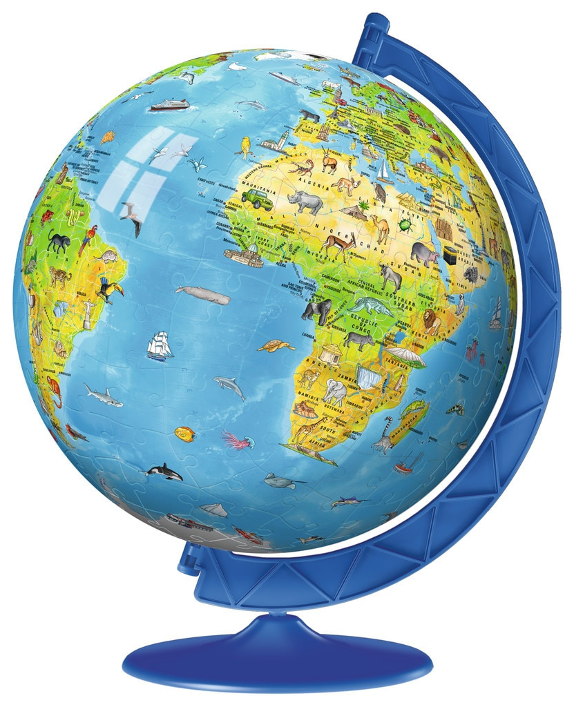 Children's Globe  - 180pc 3D Puzzle Ball By Ravensburger