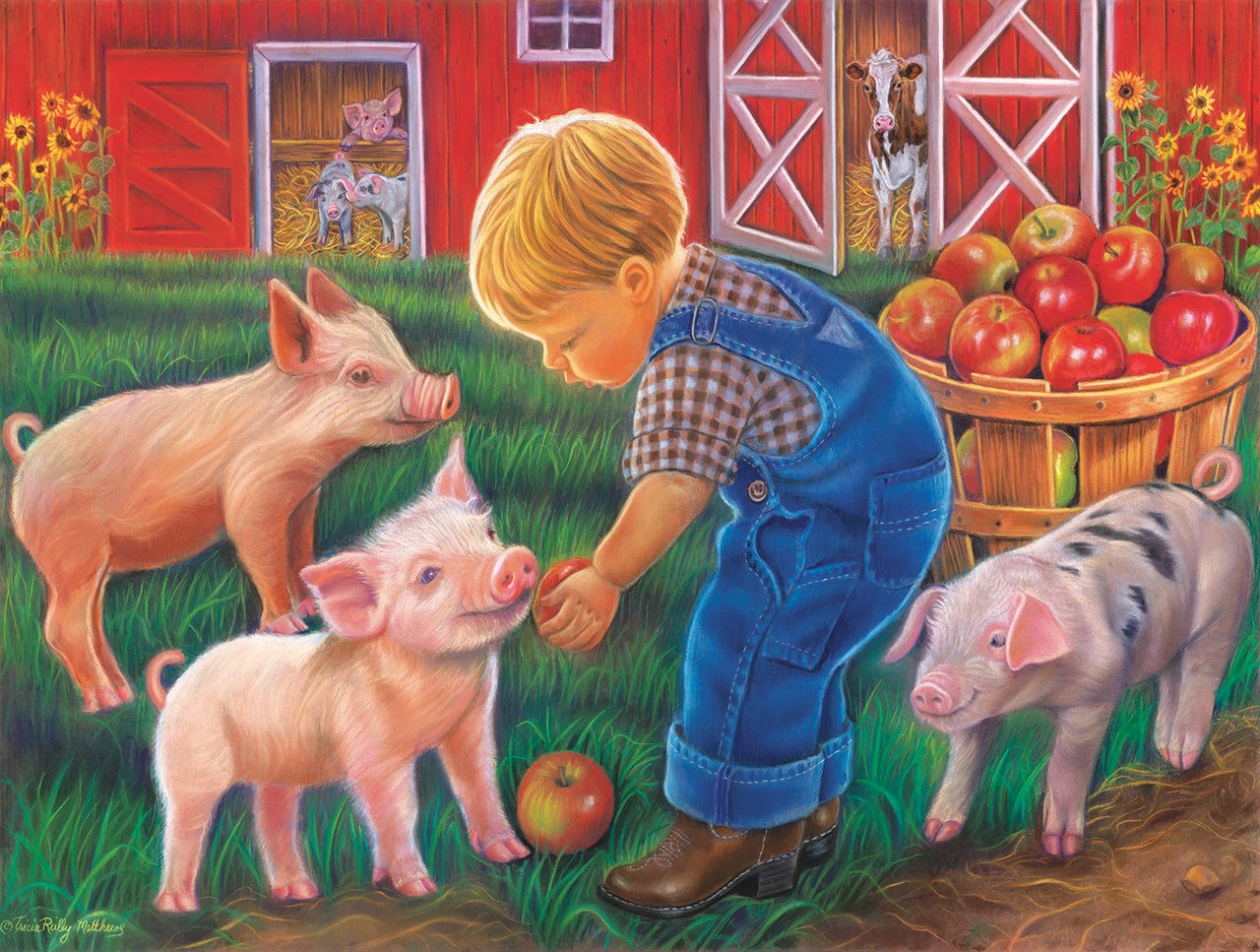 Farm Boy - 300pc Jigsaw Puzzle by Sunsout  			  					NEW