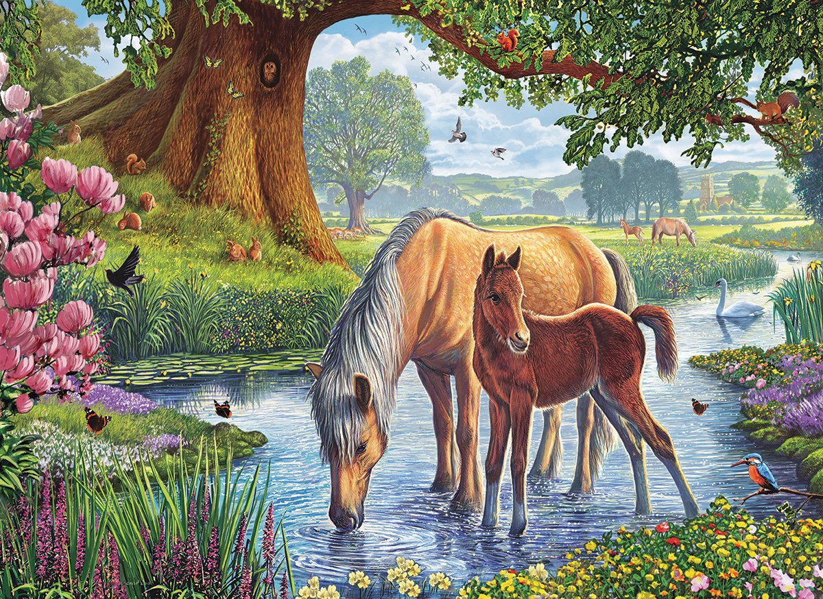 The Fell Ponies by Steve Crisp - 1000pc Jigsaw Puzzle by Eurographics