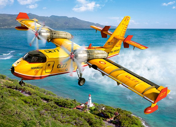 Fire Fighting Aircraft - 300pc Jigsaw Puzzle By Castorland
