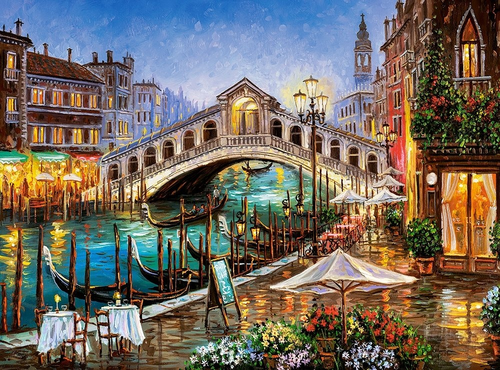 Grand Canal Bistro - 2000pc Jigsaw Puzzle By Castorland  			  					NEW