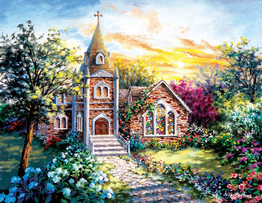 A Tranquil Setting - 1000+pc Large Format Jigsaw Puzzle by Sunsout