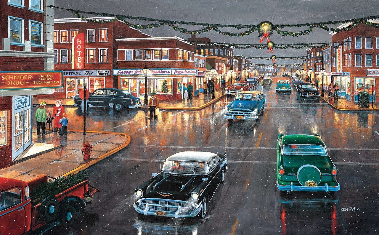 Main Street Tis the Season - 300pc Jigsaw Puzzle By Sunsout  			  					NEW