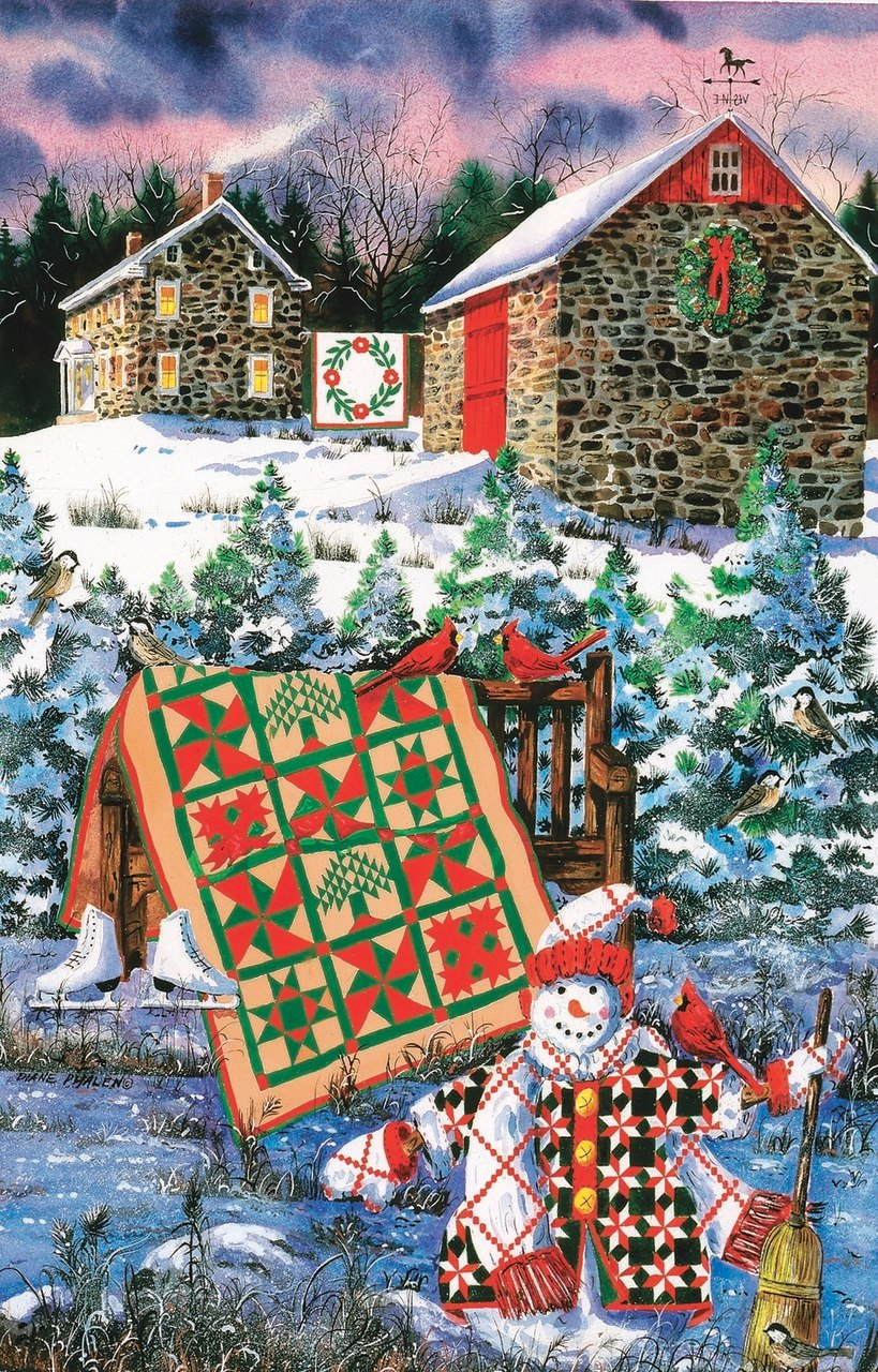 A Christmas Cheer Quilt - 1000pc Jigsaw Puzzle by Sunsout  			  					NEW