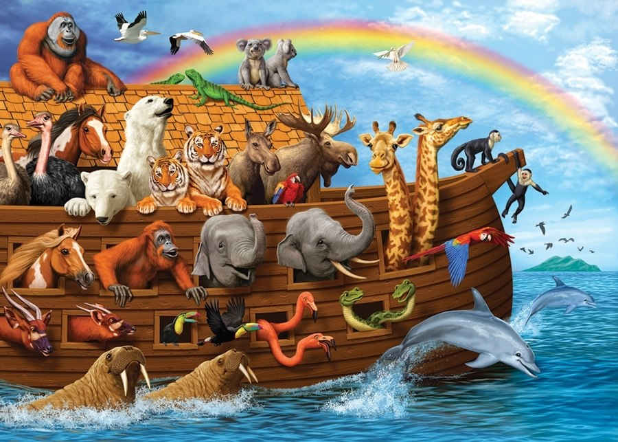 Voyage of the Ark - 35pc Tray Puzzle by Cobble Hill  			  					NEW