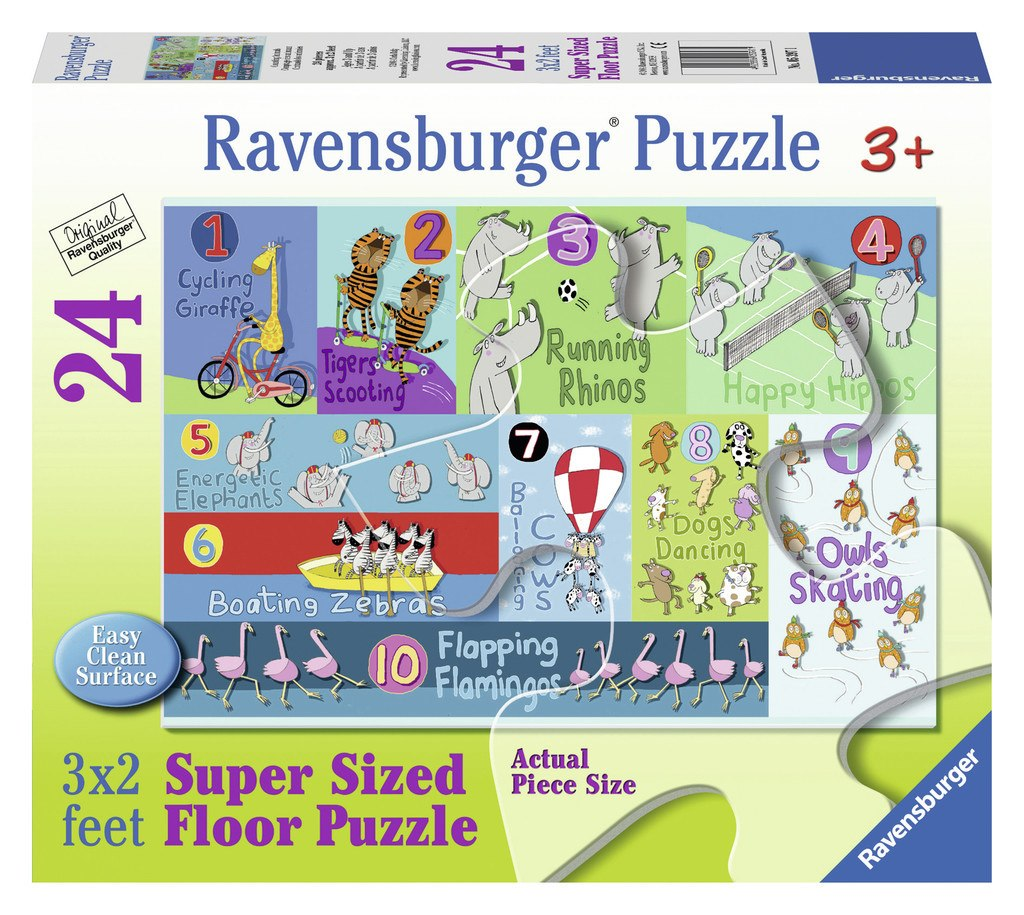 Counting Animals - 24pc Floor Puzzle By Ravensburger