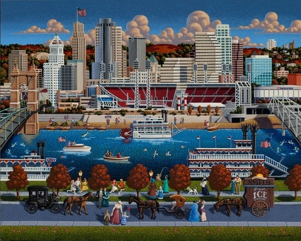 Cincinnati - 500pc Jigsaw Puzzle by Dowdle