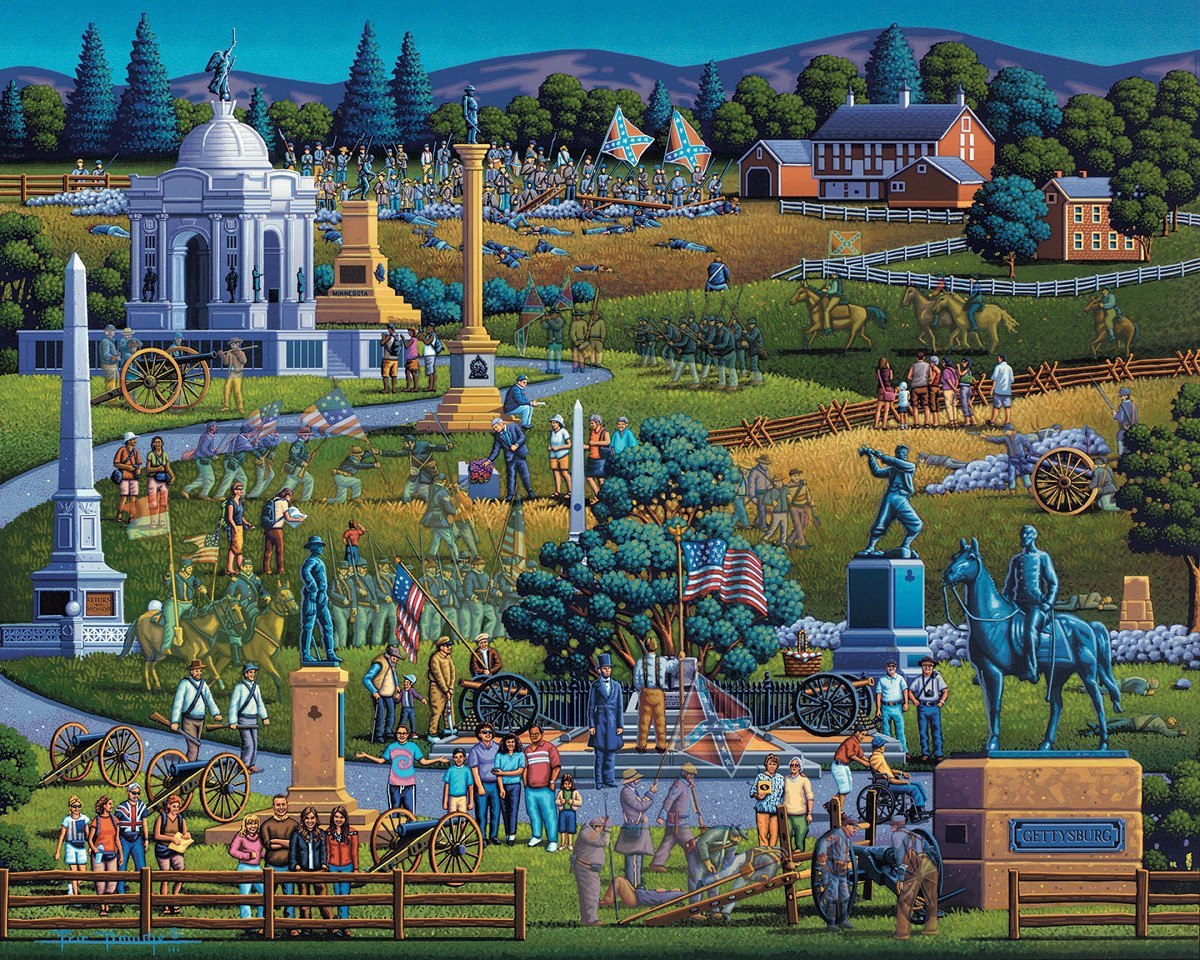 Gettysburg - 500pc Jigsaw Puzzle by Dowdle  			  					NEW