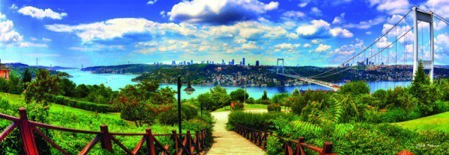 Bosphorus from Otagtepe - 1000pc Jigsaw Puzzle by Anatolian