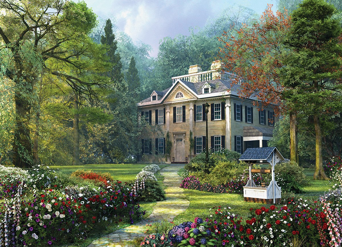 Longfellow House by Dominic Davison - 1000pc Jigsaw Puzzle by Eurographics