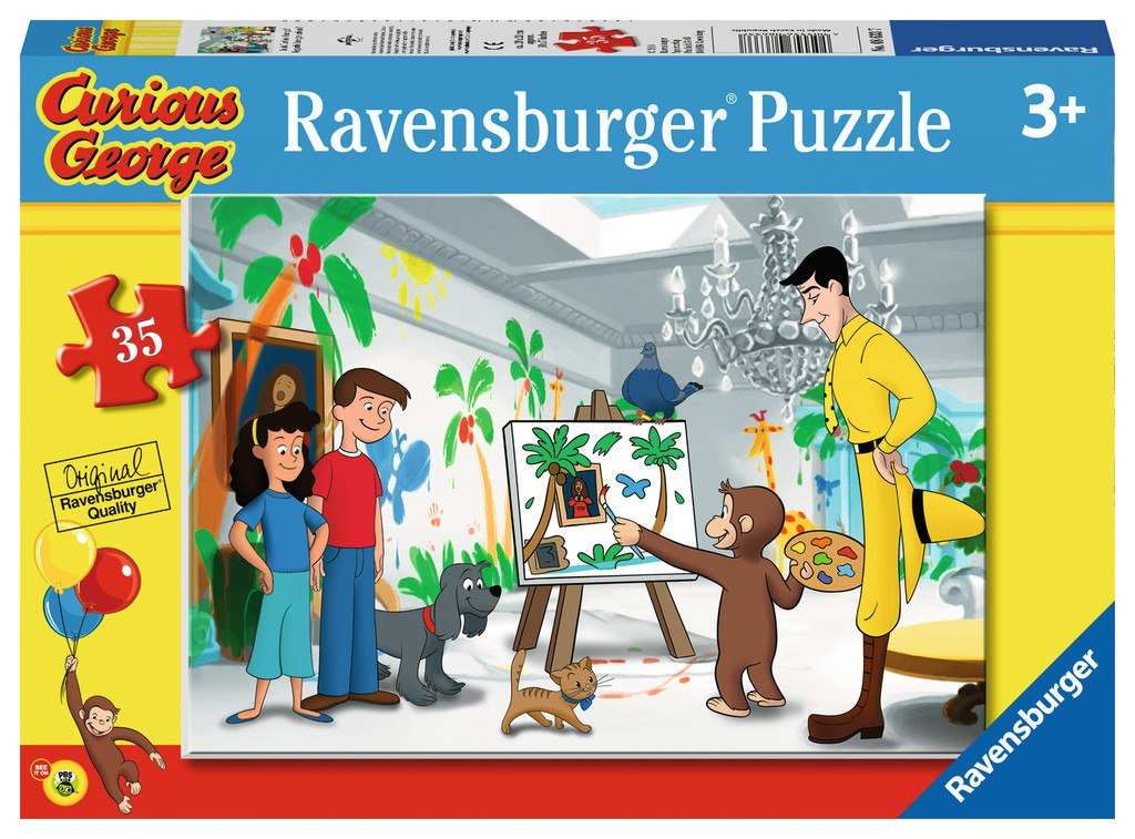 Look Curious George! - 35pc Jigsaw Puzzle By Ravensburger  			  					NEW