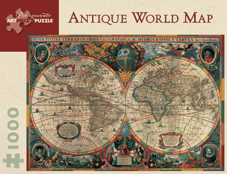 Antique World Map - 1000pc Jigsaw Puzzle by Pomegranate
