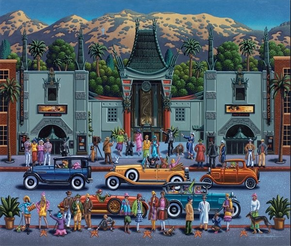 Hollywood - 500pc Jigsaw Puzzle by Dowdle - image main