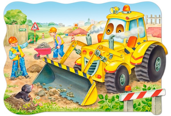 Bulldozer in action - 20pc Jigsaw Puzzle By Castorland
