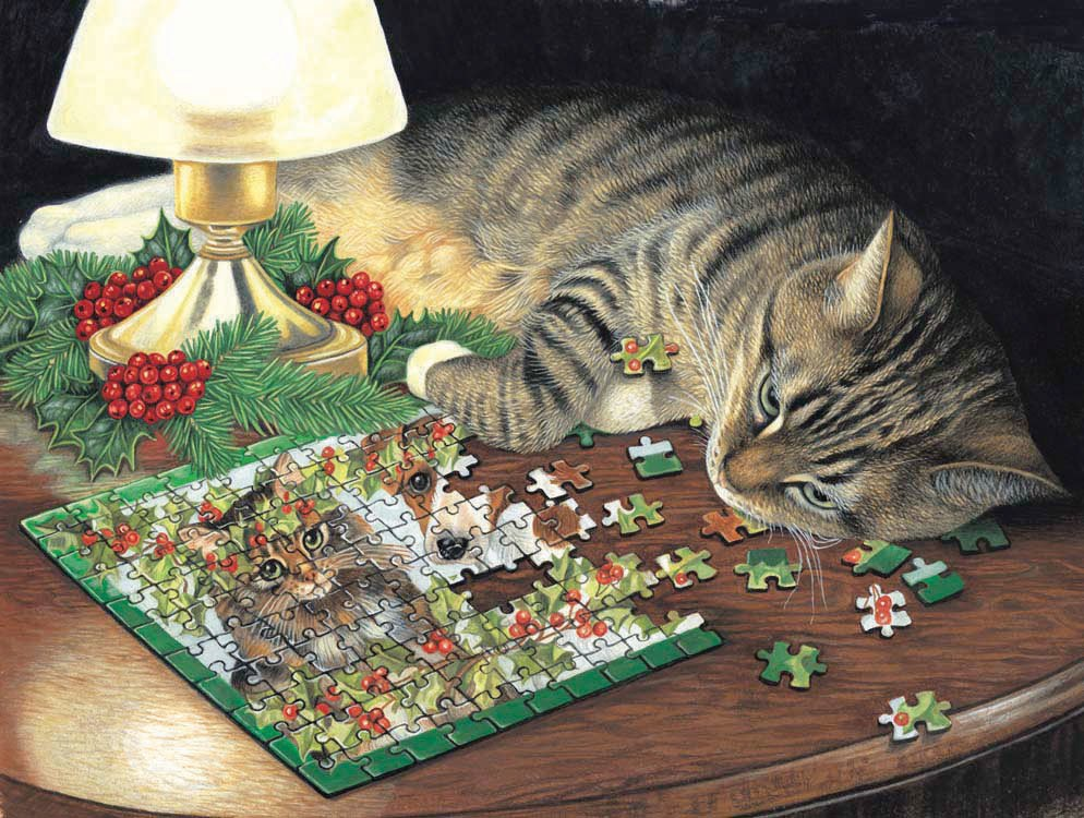 Piece-ful Slumber - 500pc Jigsaw Puzzle By Sunsout
