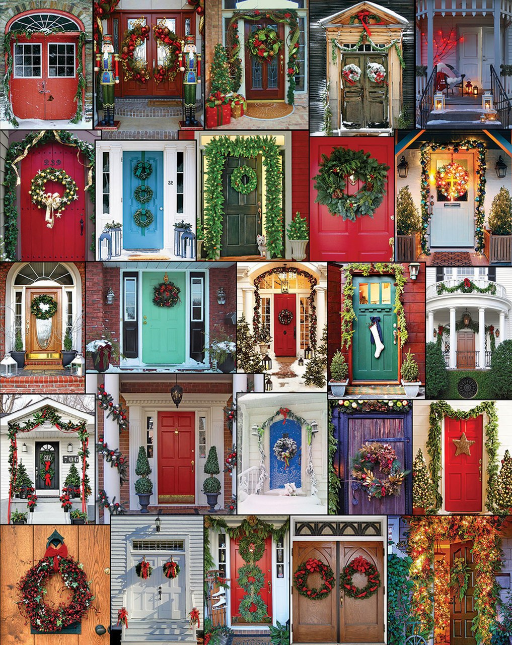 Holiday Doors - 1000pc Jigsaw Puzzle by White Mountain
