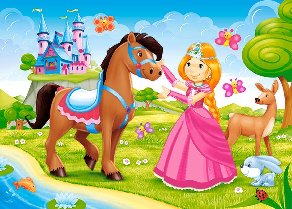 Little Princess and Her Friend - 60pc Jigsaw Puzzle By Castorland