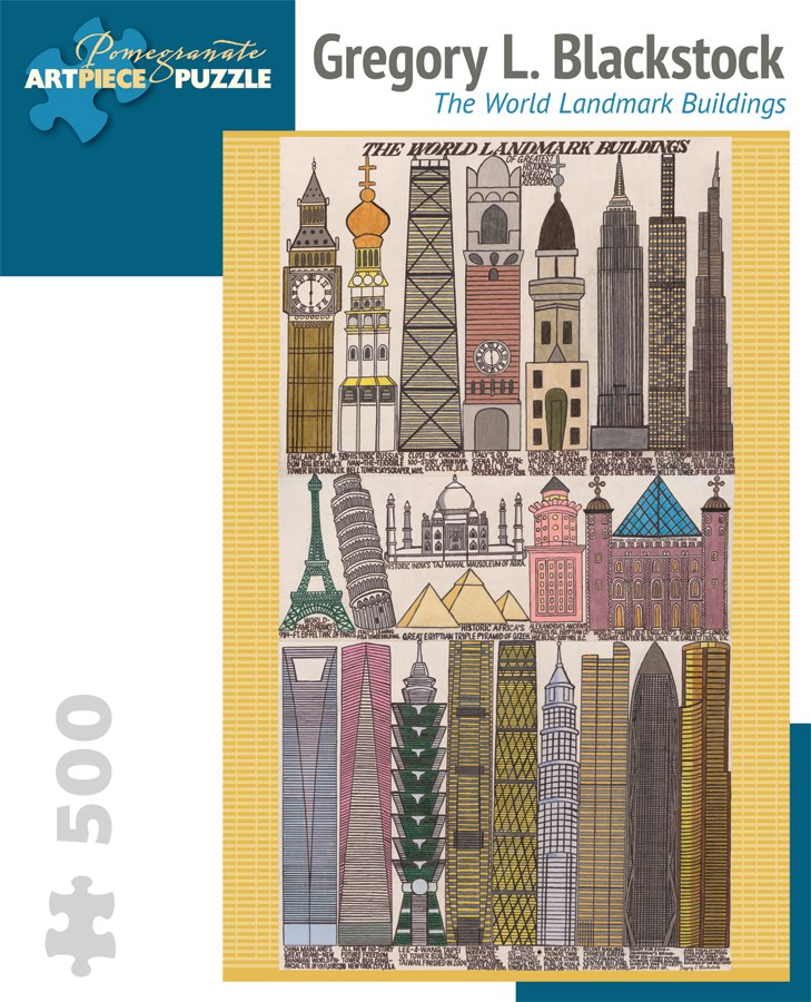 Blackstock: World Bulidings - 500pc Jigsaw Puzzle by Pomegranate