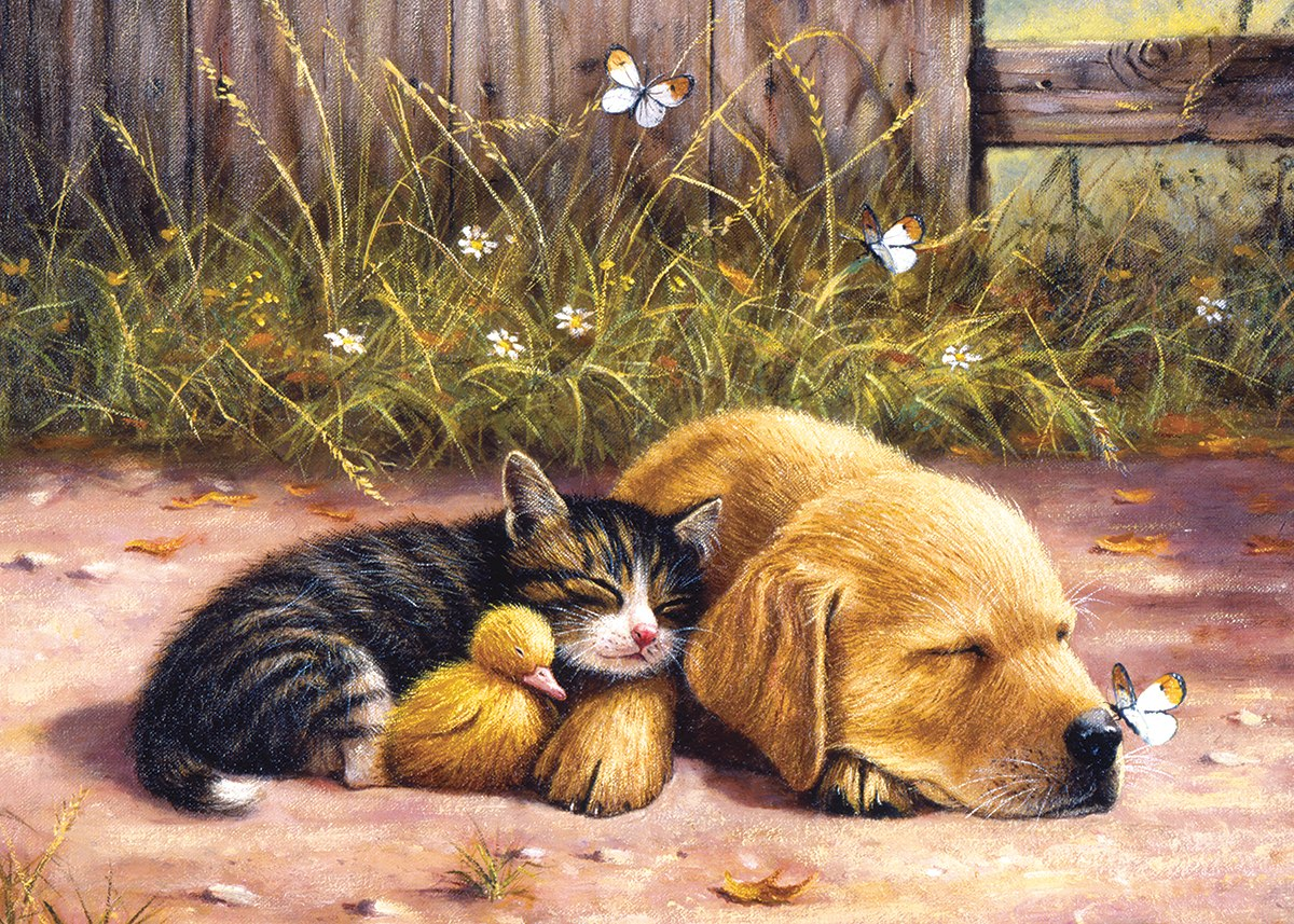 Sleepy Companions - 15pc Jigsaw Puzzle by Sunsout  			  					NEW