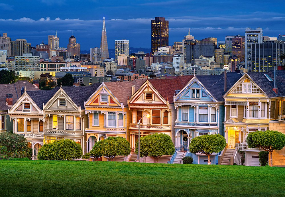 Painted Ladies, San Francisco - 1000pc Jigsaw Puzzle By Castorland  			  					NEW