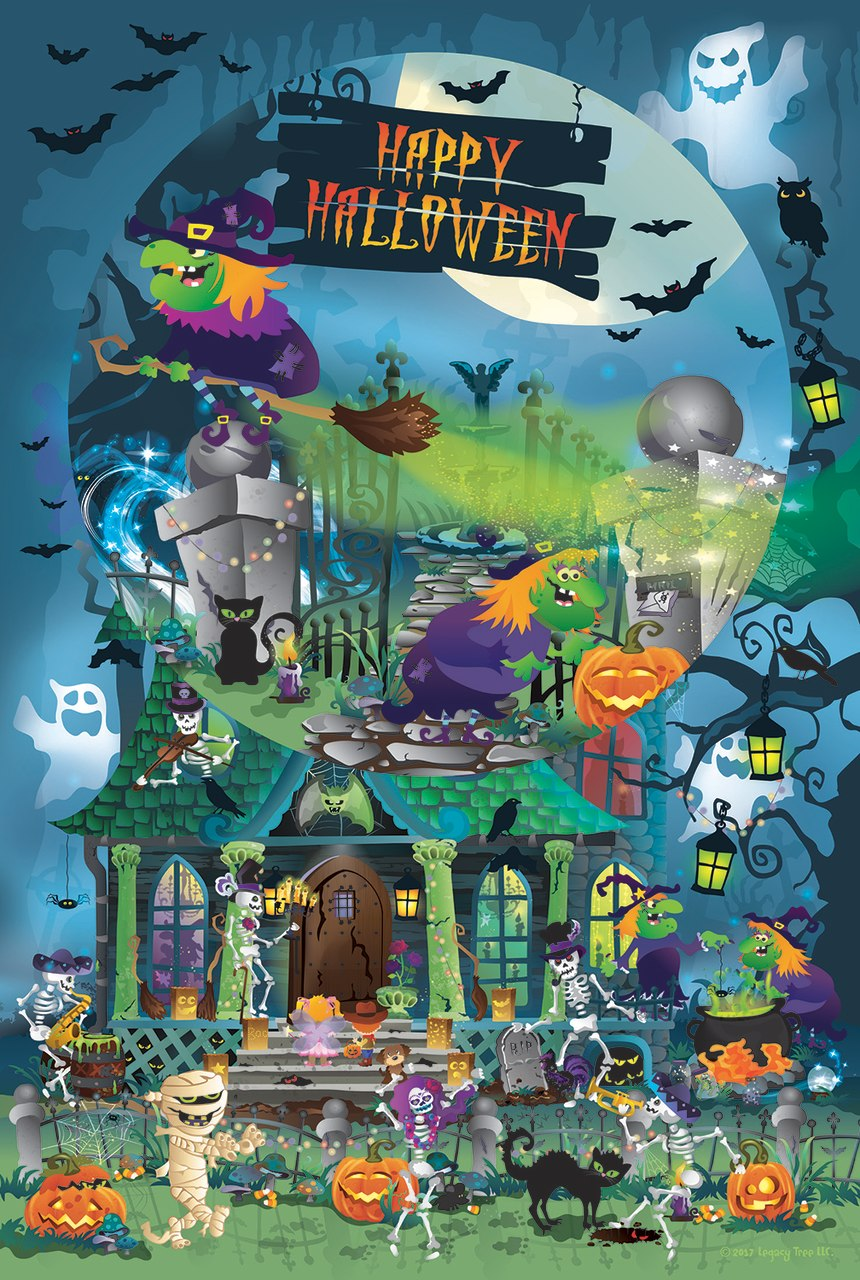 Trick or Treat for All Ages - 625pc Family Jigsaw Puzzle by Sunsout  			  					NEW