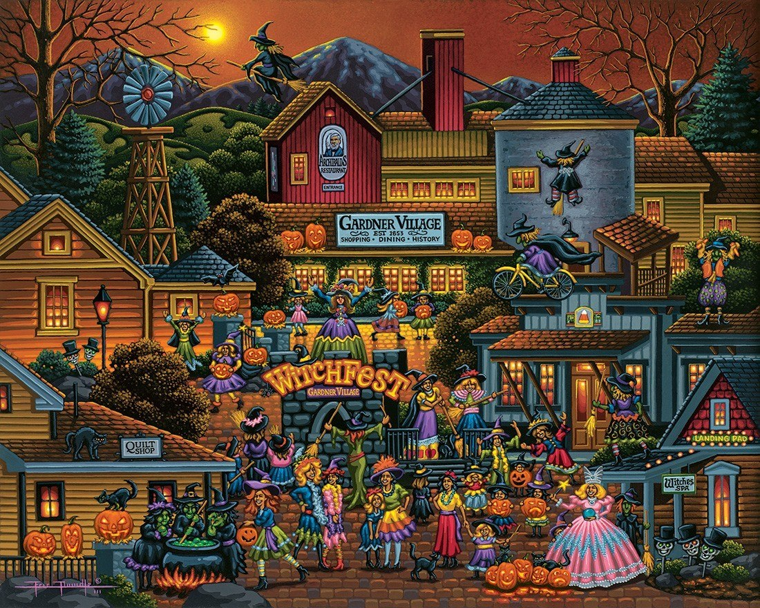 Witchfest - 500pc Jigsaw Puzzle by Dowdle