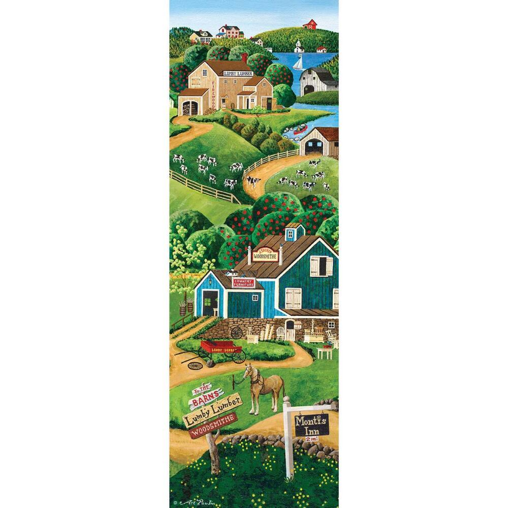 To the Barns - 500pc Panoramic Jigsaw Puzzle by Masterpieces  			  					NEW