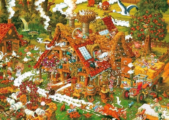 Ryba: Funny Farm - 1500pc Jigsaw Puzzle By Heye  			  					NEW