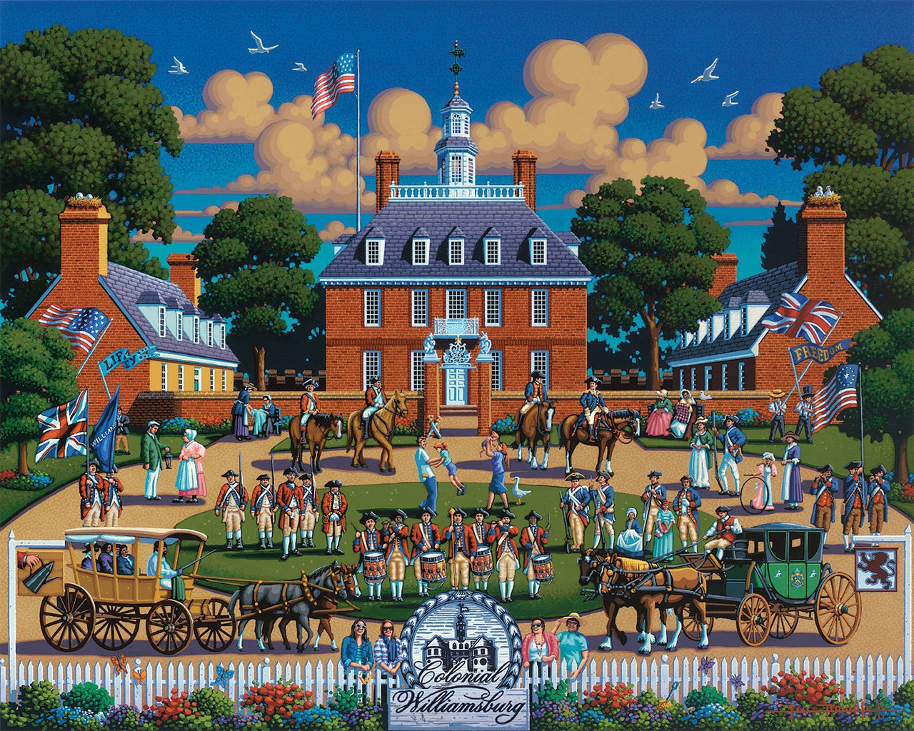 Williamsburg - 500pc Jigsaw Puzzle by Dowdle  			  					NEW