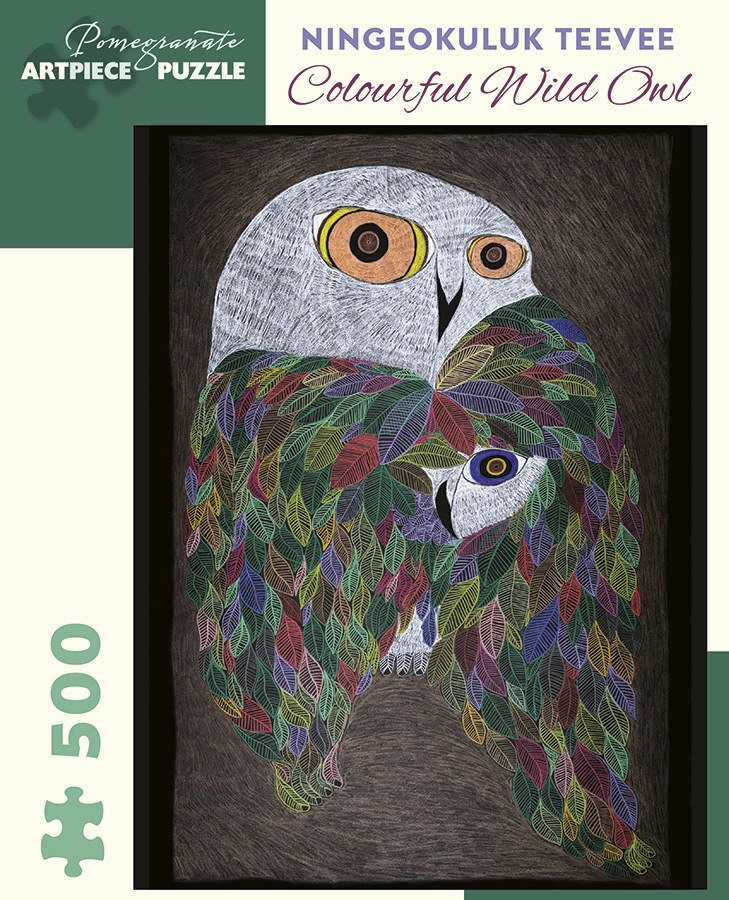 Teevee: Colourful Wild Owl - 500pc Jigsaw Puzzle by Pomegranate  			  					NEW