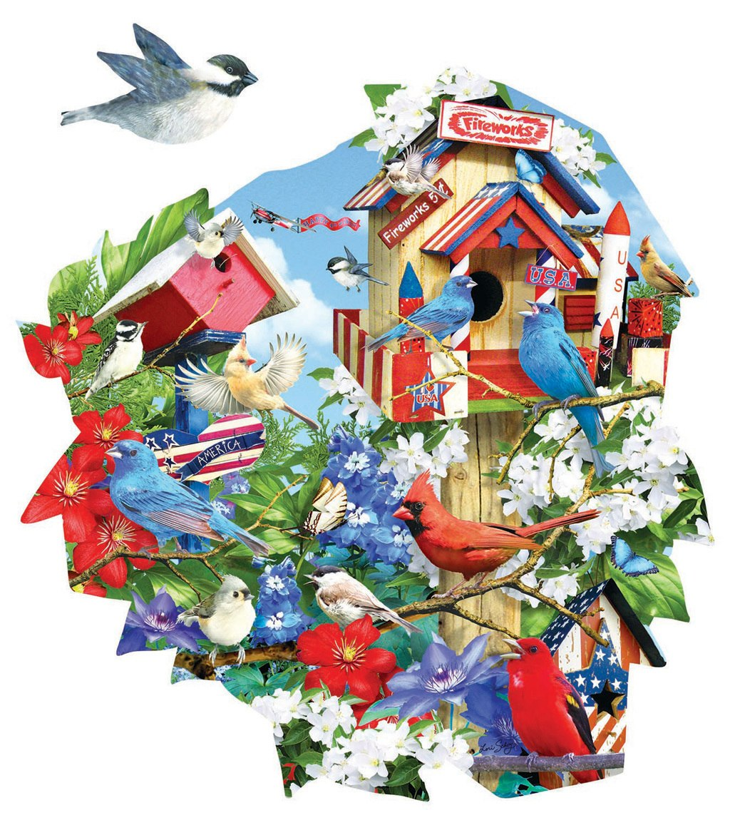 Birdhouse Celebration - 1000pc Jigsaw Puzzle by SunsOut