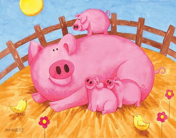 Pink Pigs - 63pc Jigsaw Puzzle By Sunsout  			  					NEW