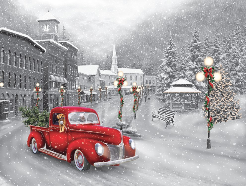Holiday Ride - 550pc Jigsaw Puzzle by Vermont Christmas Company  			  					NEW