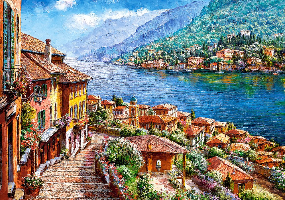 Lake Como - 500pc Jigsaw Puzzle by Castorland  			  					NEW