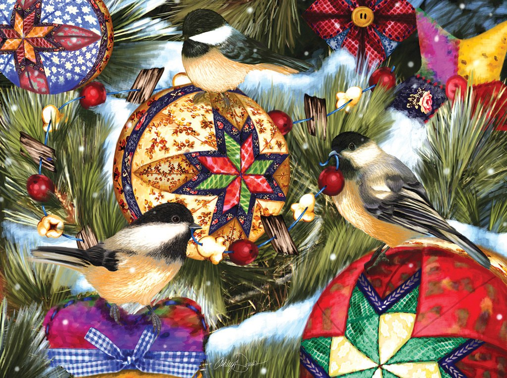 Birds and Ornaments - 1000pc Jigsaw Puzzle by Sunsout