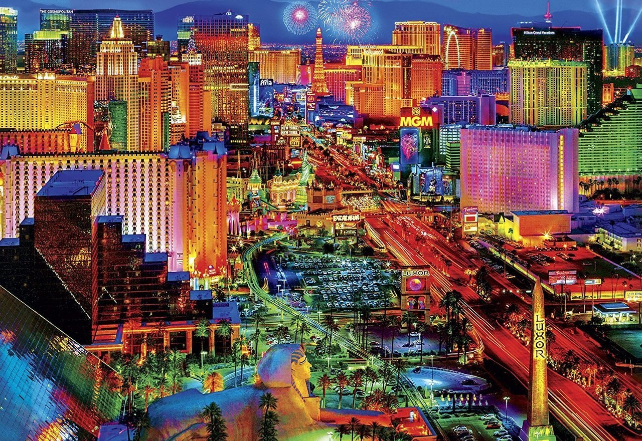 Viva Las Vegas - 2000pc Jigsaw Puzzle by Buffalo Games  			  					NEW