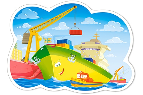 A Day in the Harbour - 12pc Jigsaw Puzzle By Castorland