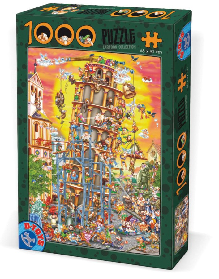 Building the Tower of Pisa - 1000pc Jigsaw Puzzle by D-Toys