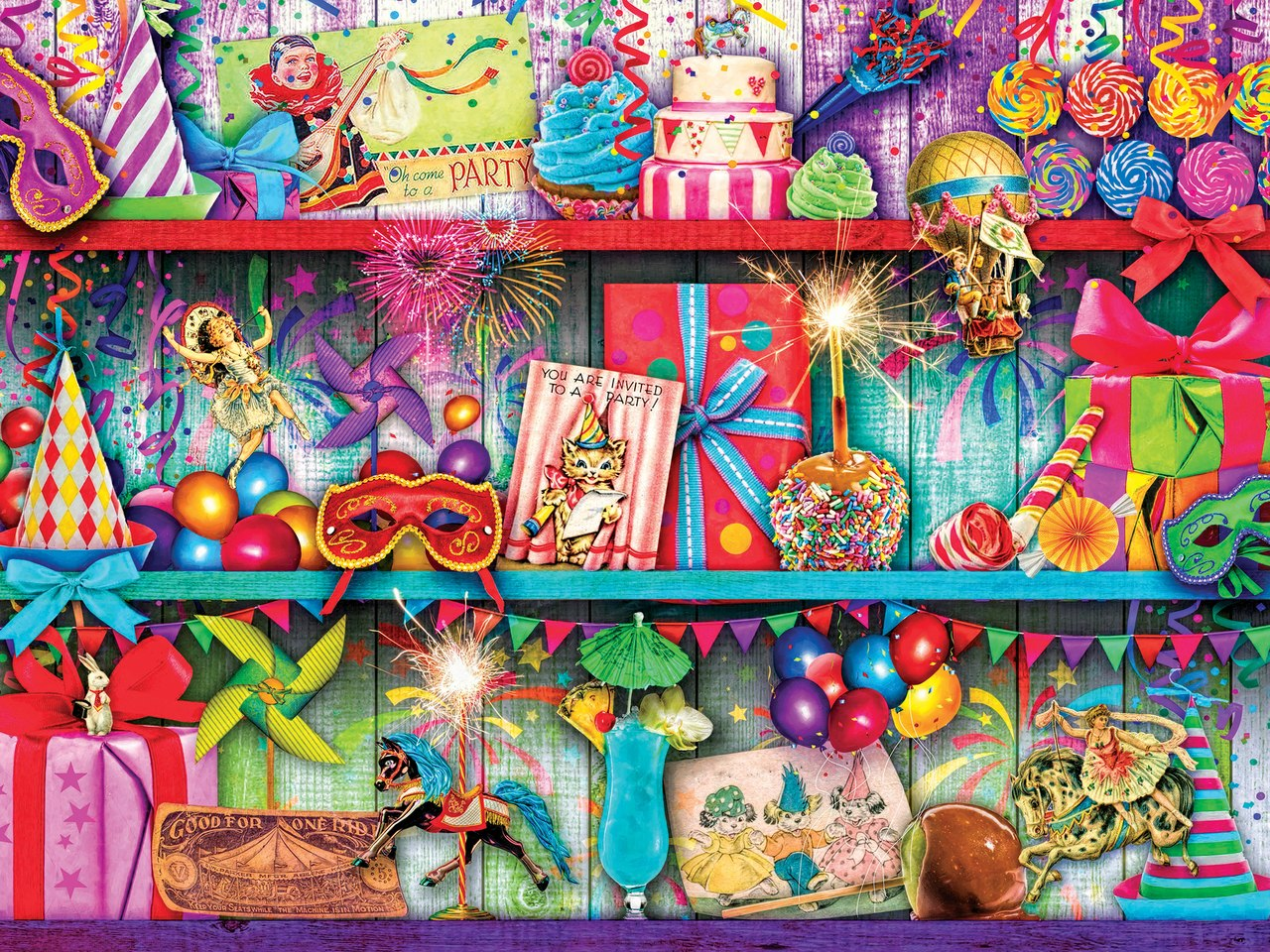 Glow In The Dark: Celebrate Good Times - 300pc EzGrip Jigsaw Puzzle by Masterpieces  			  					NEW