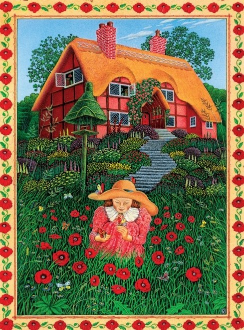 Peter Church: Poppy Garden - 550pc Jigsaw Puzzle by Ceaco