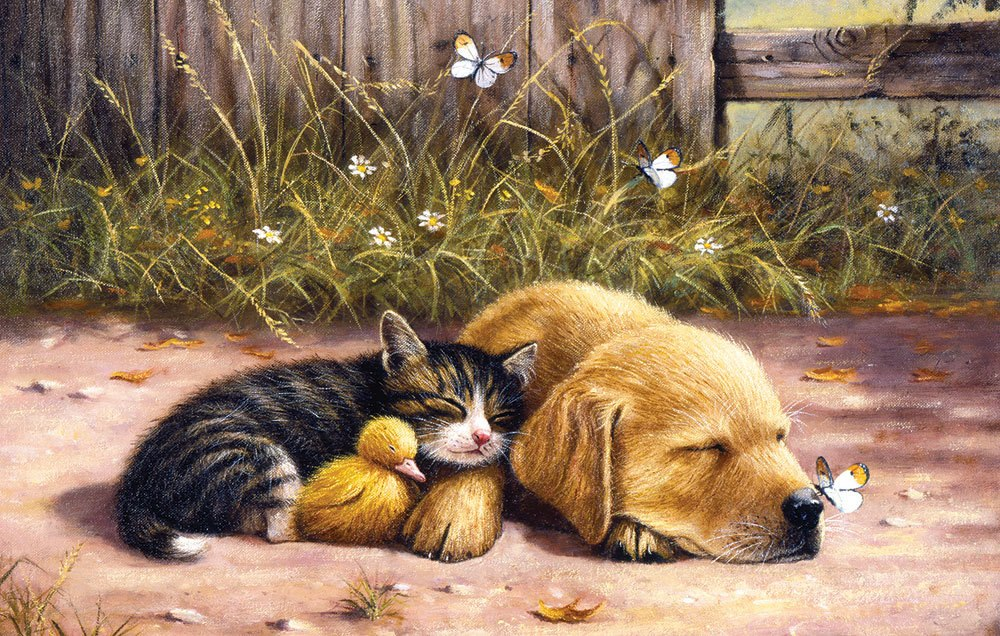 Sleepy Days - 100pc Jigsaw Puzzle by Sunsout