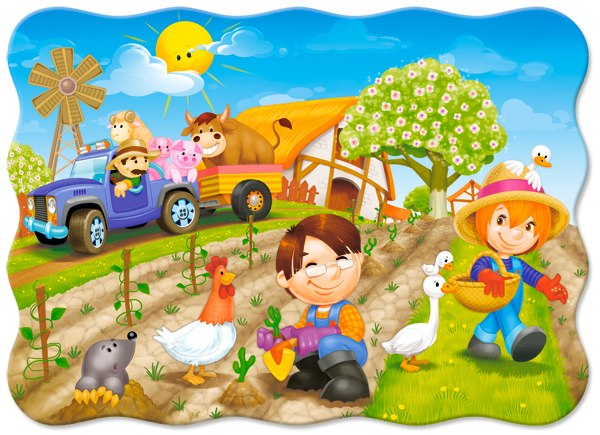 A Day on the Farm - 30pc Jigsaw Puzzle By Castorland